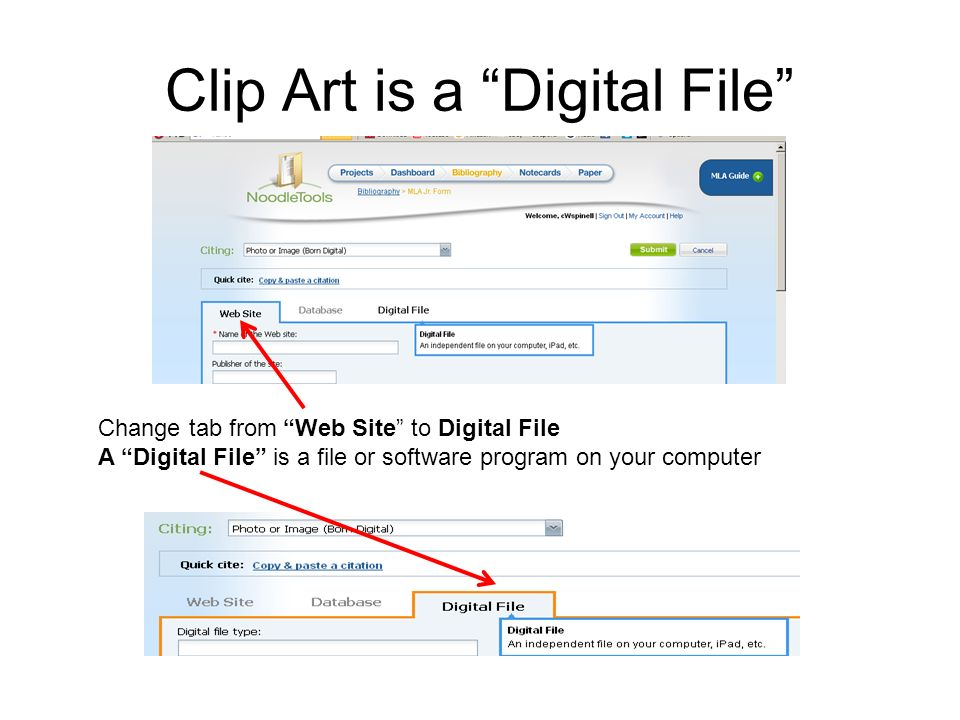 Bibliography clipart web site. Citing clip art in