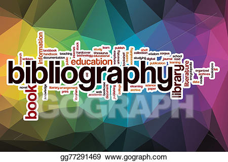 Stock illustration cloud with. Bibliography clipart word