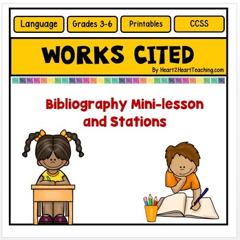 Works activities mini lesson. Bibliography clipart work cited