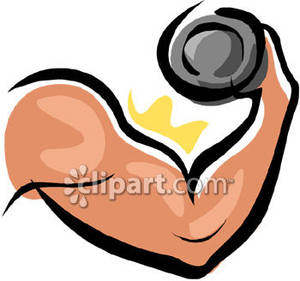 A flexing with free. Bicep clipart