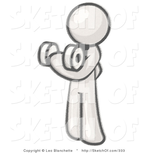 Drawing of a sketched. Bicep clipart bicep curl