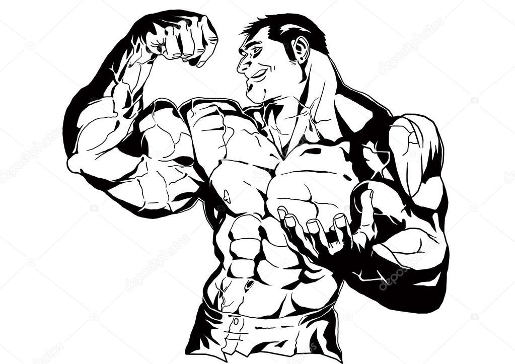 Biceps drawing at getdrawings. Bicep clipart big arm
