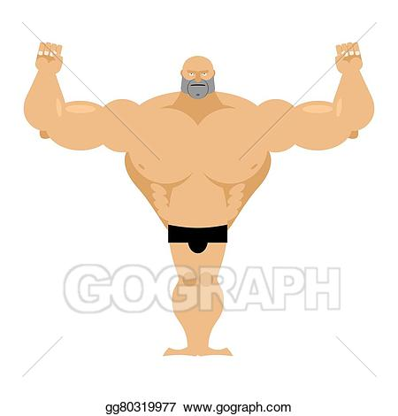 Vector strong male athletics. Big clipart bicep