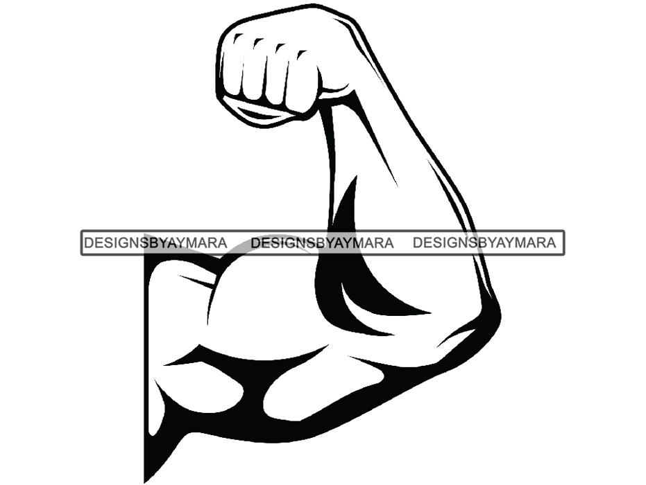 Bicep clipart big arm. Biceps bodybuilder bodybuilding workout