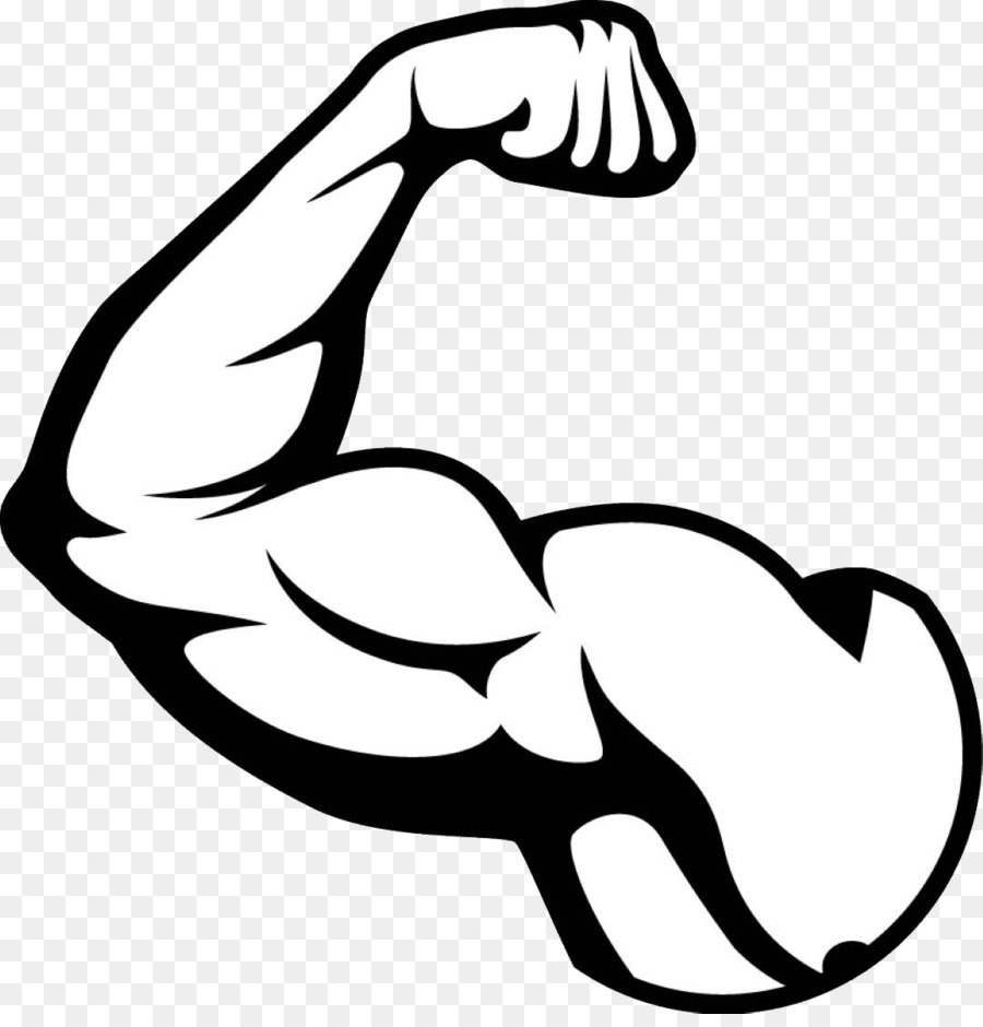 Bicep clipart black and white. Biceps arm muscle png