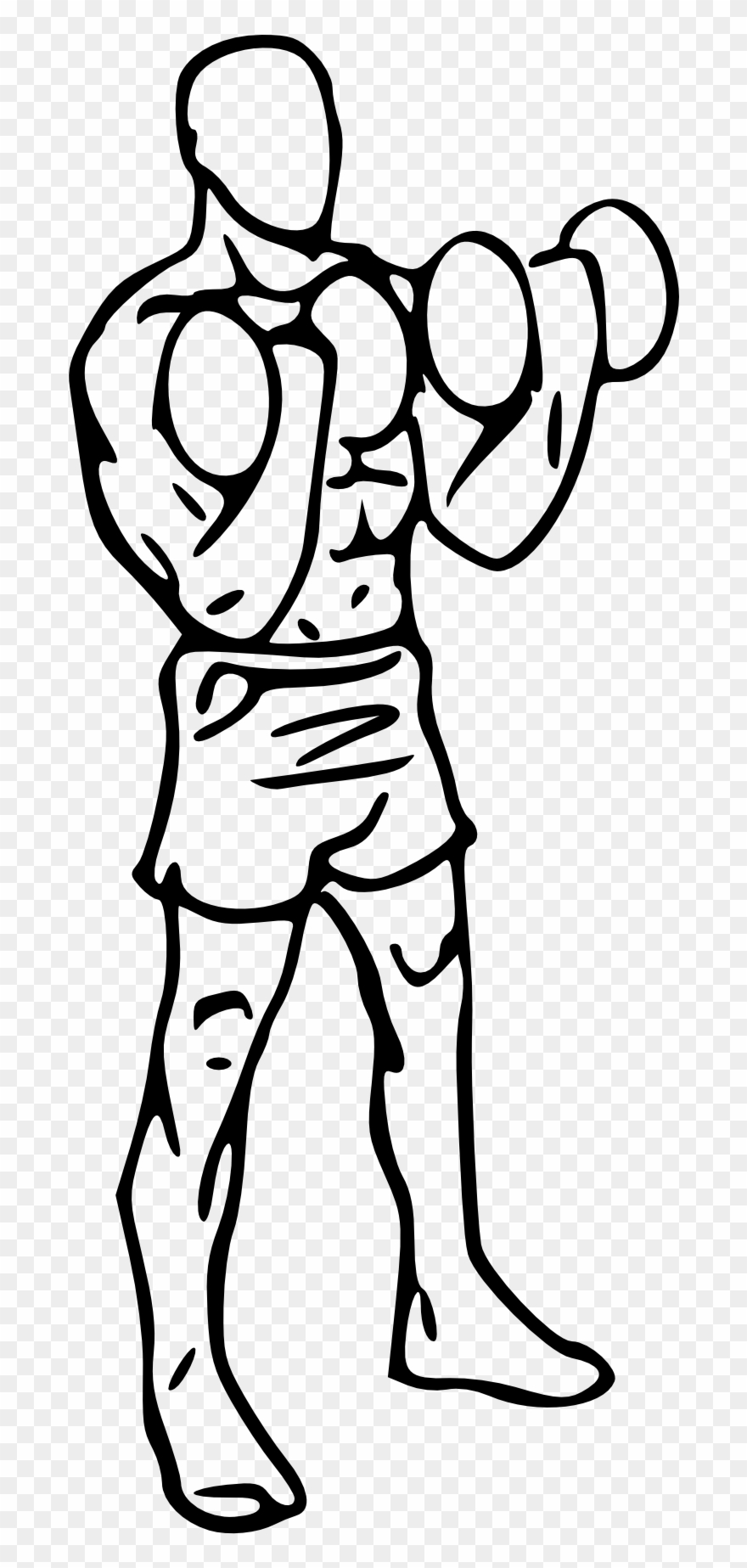Bb animation biceps curl. Dumbbell clipart animated
