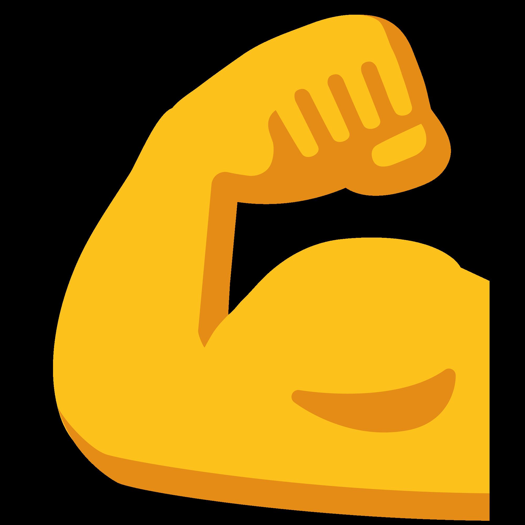 Muscles clipart flex muscle. File emoji u f