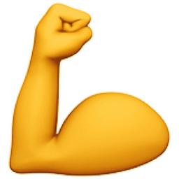 Flexed biceps emoji u. Bra clipart bent arm