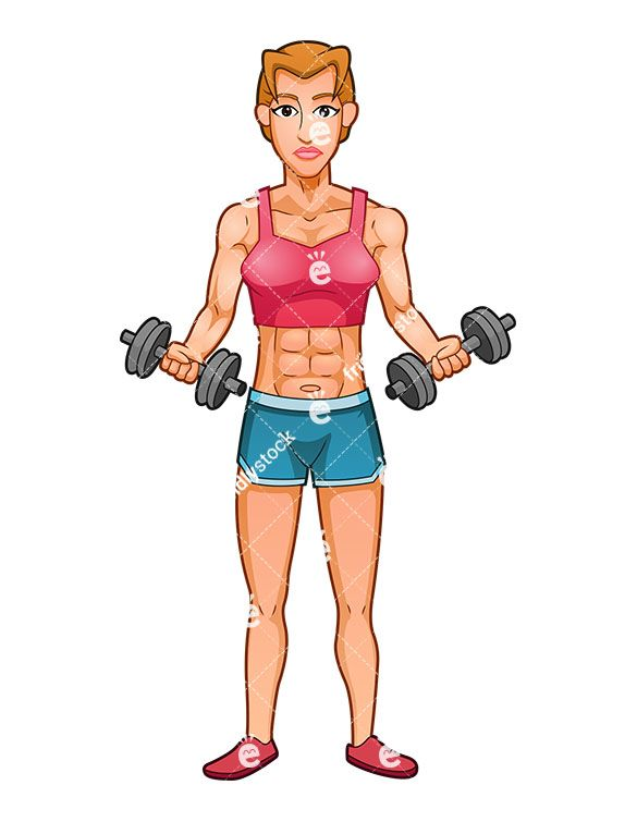 A muscular woman performing. Bicep clipart female