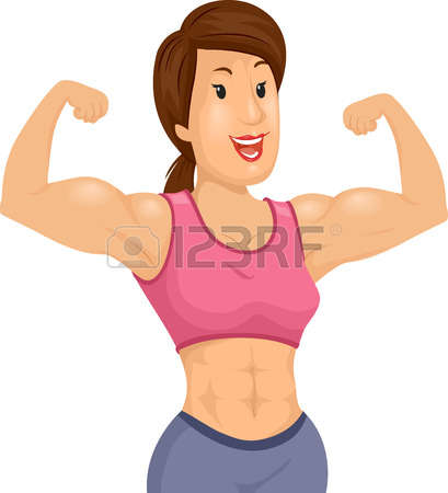 Bicep clipart female. Muscular girl collection biceps