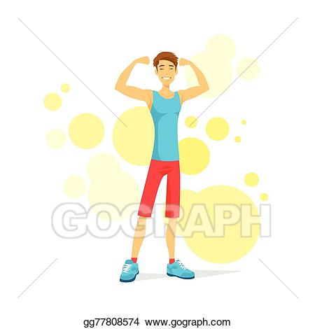 Bicep clipart fitness. Eps vector sport man