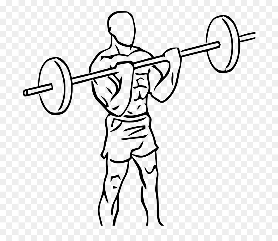 Bicep clipart fitness. Cartoon exercise line drawing
