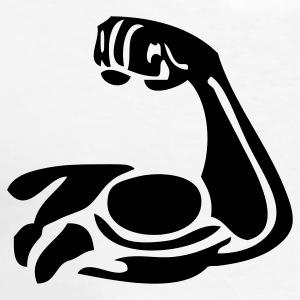 Bicep clipart flexing. Biceps polo shirts spreadshirt