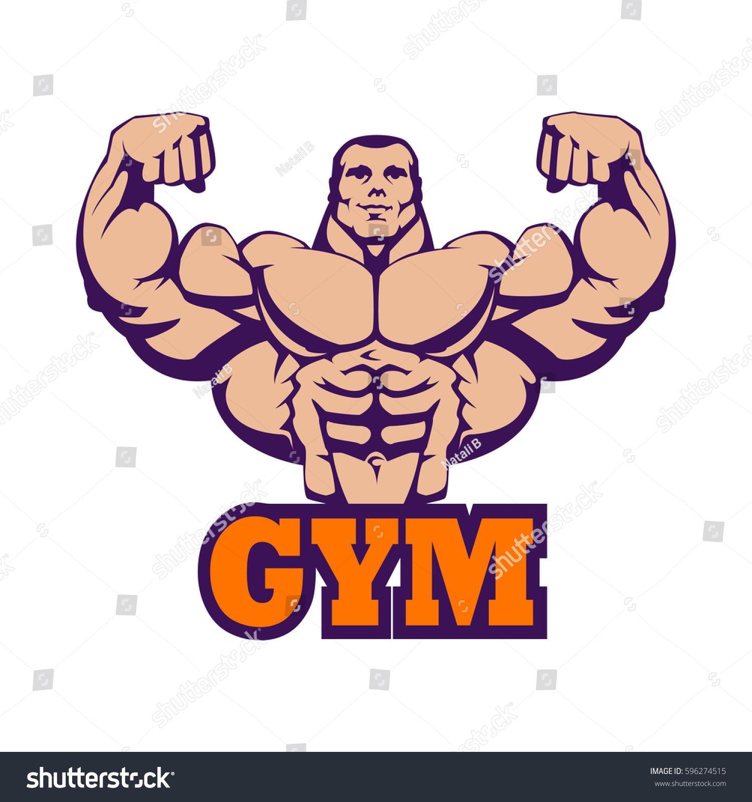 Big clipart bicep. Strong bodybuilder huge biceps