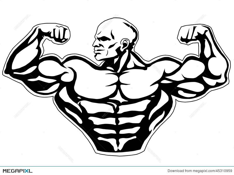 Bicep clipart muscle hand. Big biceps illustration megapixl
