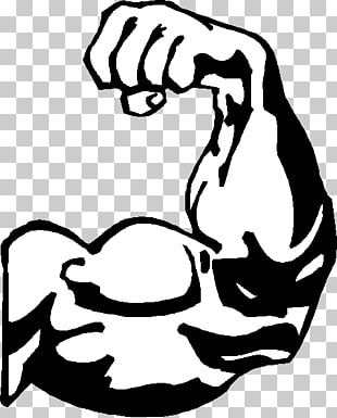 Muscle arm cartoon drawing. Bicep clipart musle