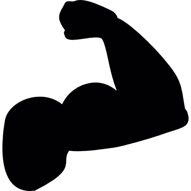 Bicep clipart silhouette. Muscle at getdrawings com