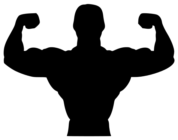 Fitness biceps recreation silhouettes. Bicep clipart silhouette