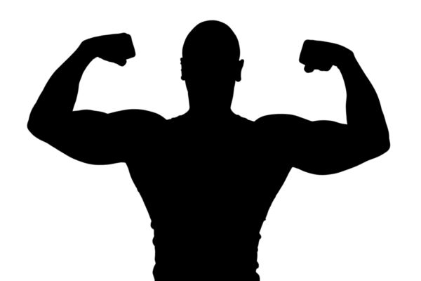 Muscle man clip art. Bicep clipart silhouette
