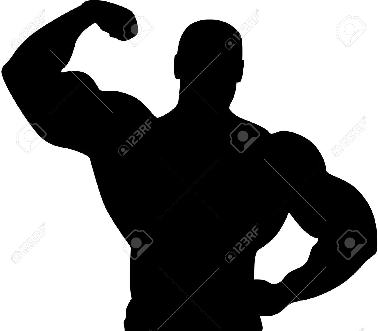 Arms clipart fitness. Muscle silhouette at getdrawings