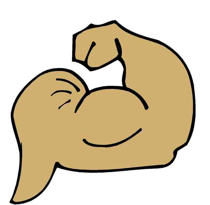 Muscles clipart muscle mass. Cartoon man strong arm