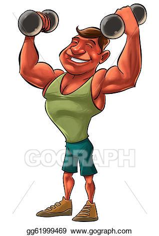 Bicep clipart strong man. Clip art stock illustration