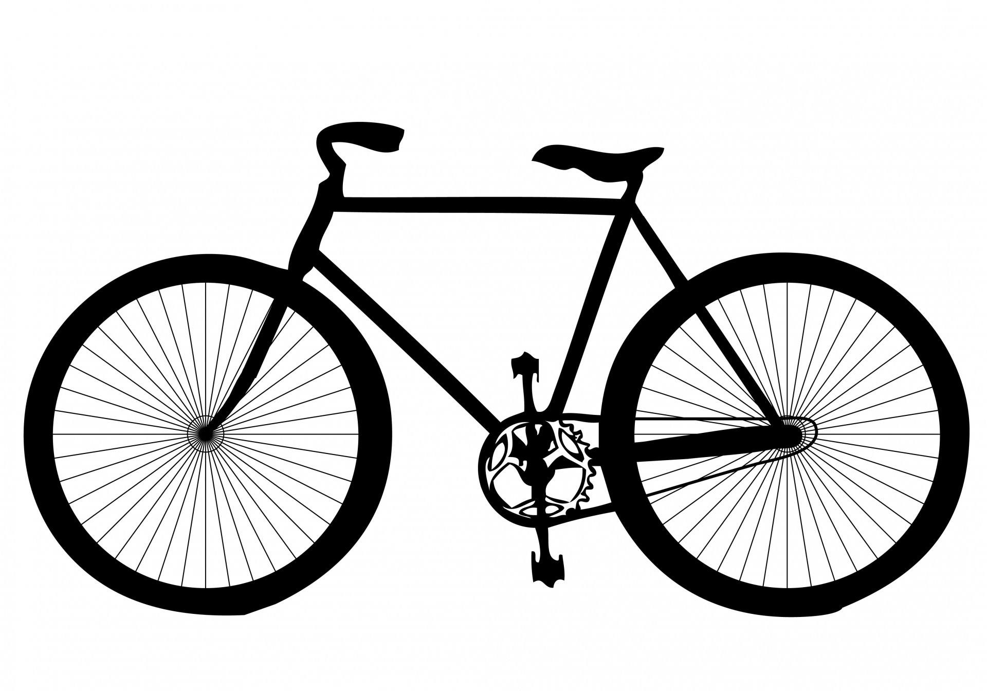 Bicycle free stock photo. Clipart bike