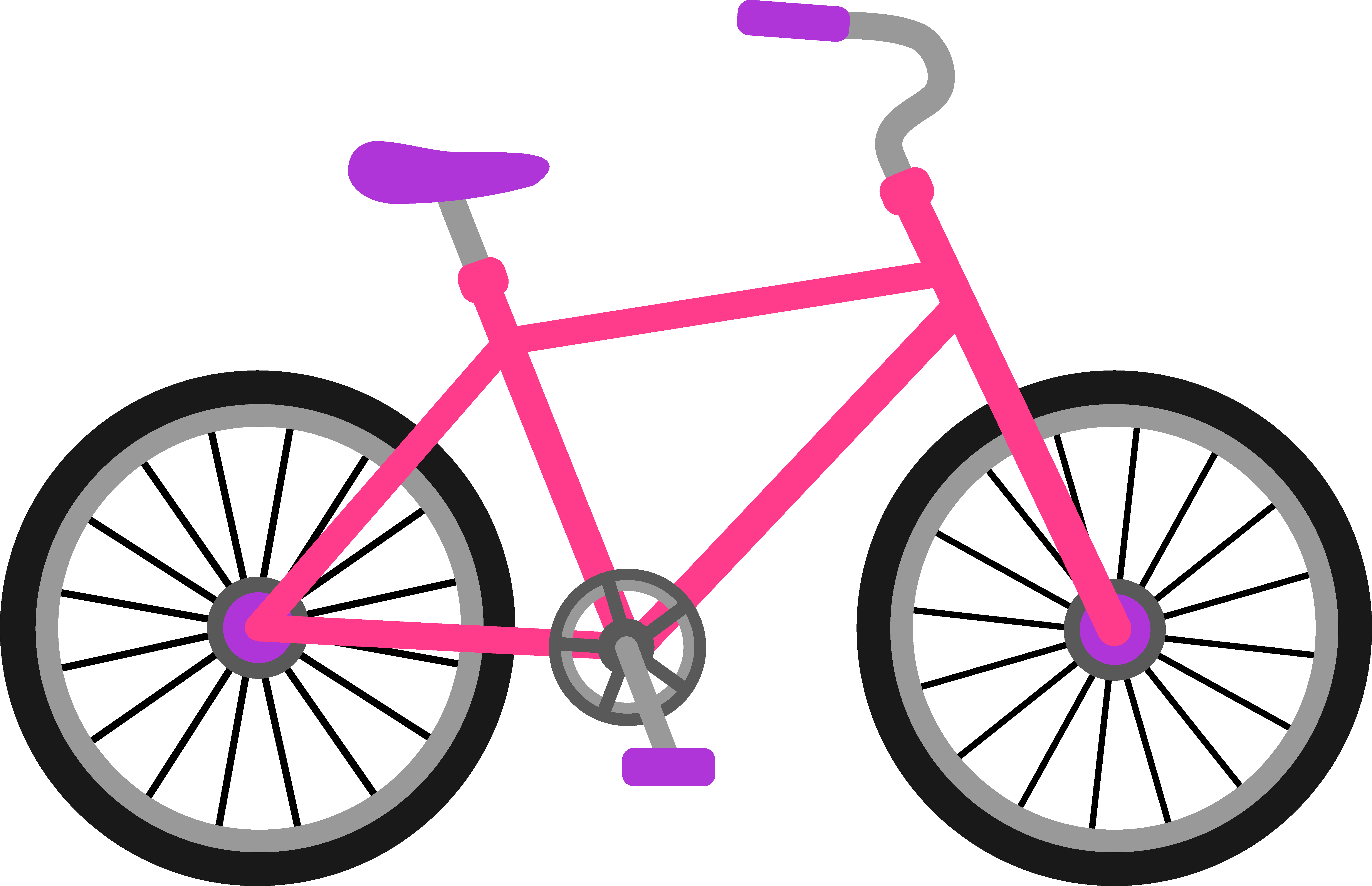 purple clipart bicycle