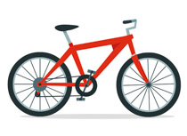 Clipart bike. Sports free bicycle to