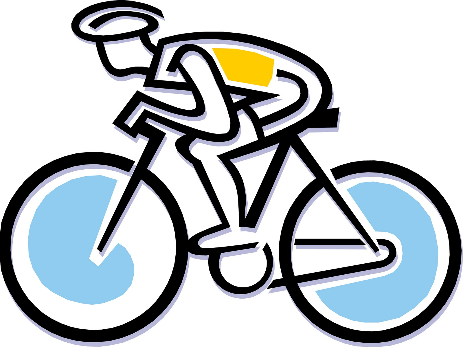 Free cartoon cliparts download. Bicycle clipart animated