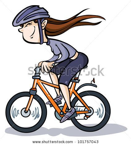 Bicycle clipart animated. Cartoon bikes pictures vector
