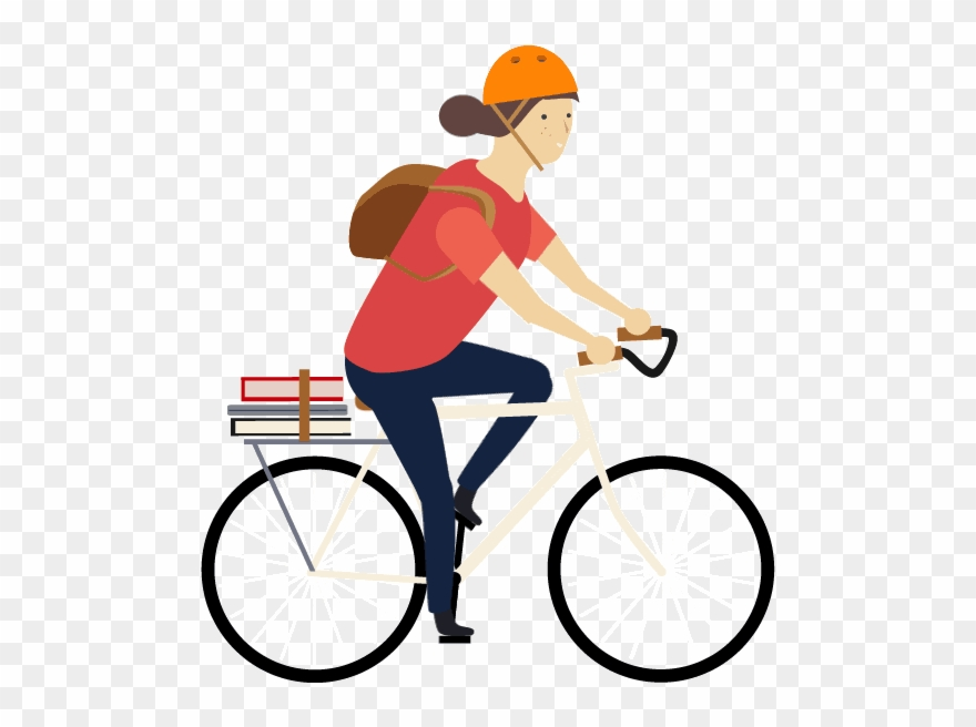 Cycling animation transparent gif. Bicycle clipart animated