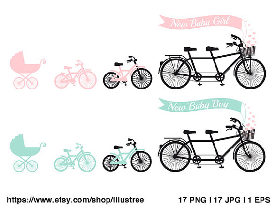 Bicycle clipart baby. Shower new boy or