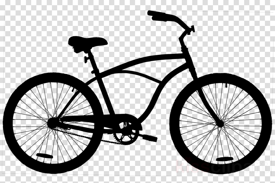 Clipart bike beach cruiser. Urban frame bicycle silhouette