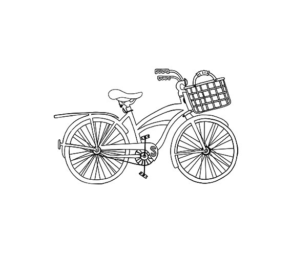 Pin by kukukiki on. Clipart bike beach cruiser