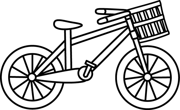 Bicycle clip art images. Bike clipart outline