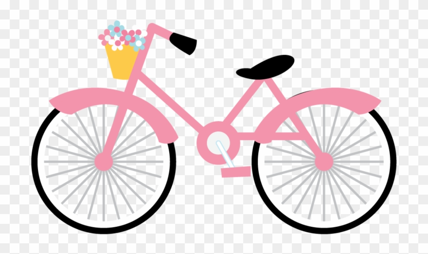 Paris bicycle art party. Clipart bike pink