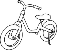 Biking clipart outline. Free black and white