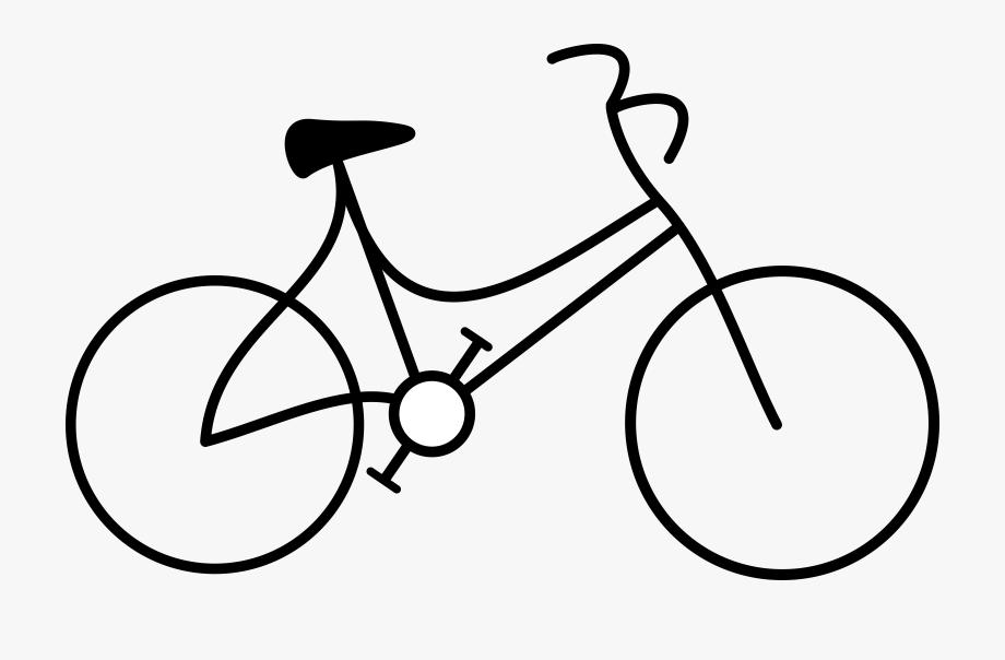 Bike bicycle clip art. Biking clipart black and white