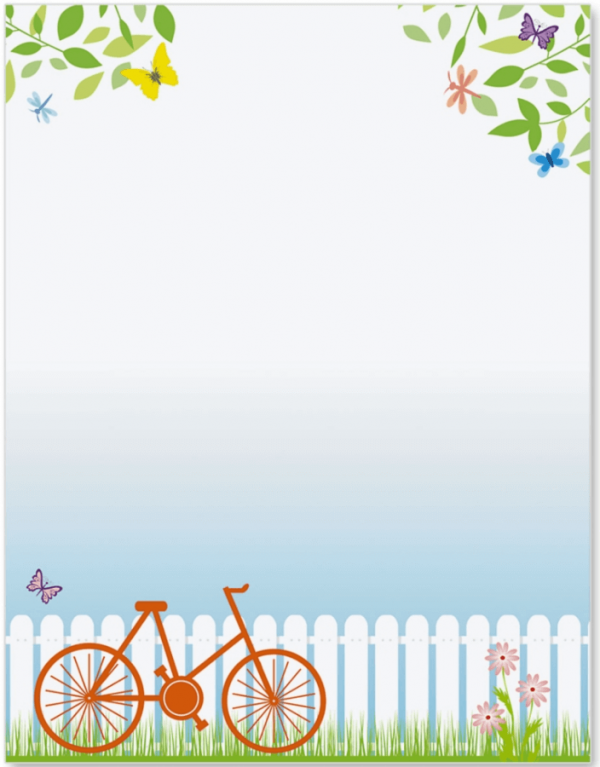 Spring stationery finds from. Bike clipart border
