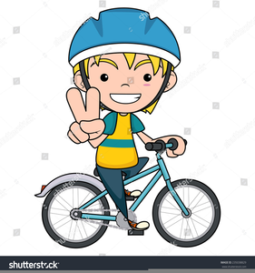 Clipart bike boy. Riding a free images