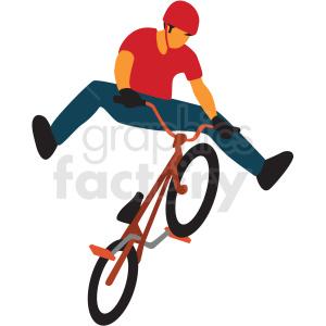 Boy riding bmx bike. Biking clipart bycicle