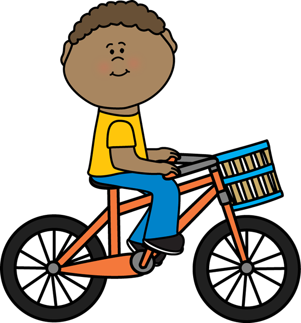Bicycle clip art images. Cycle clipart child