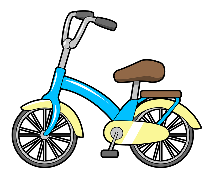 White clipart bike. Free cartoon bicycle cliparts