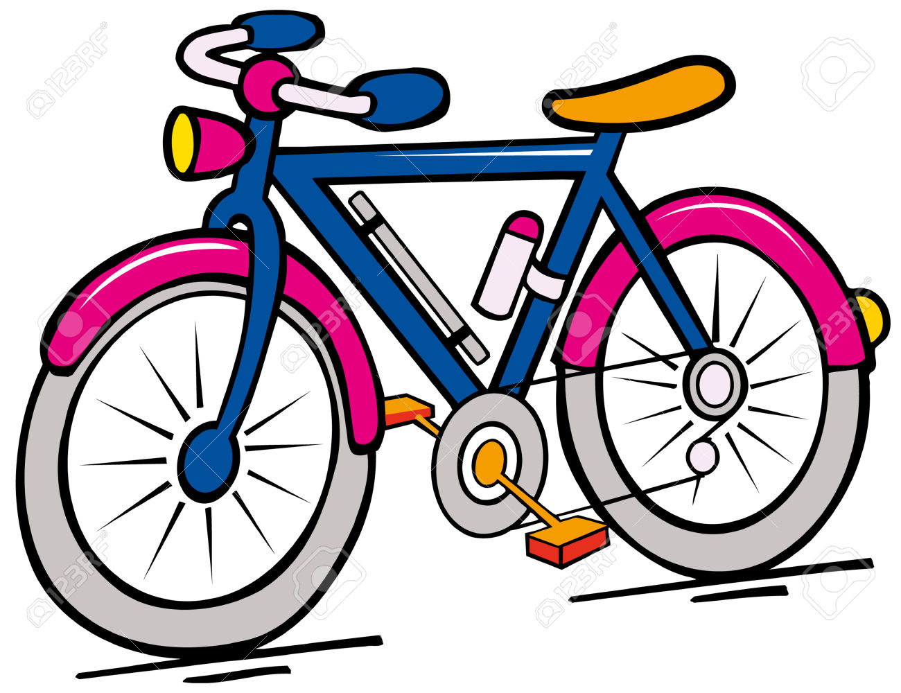 Bike clipart cartoon. Pictures of bicycle free
