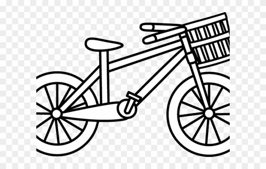 Bicycle ride a coloring. Bike clipart cartoon