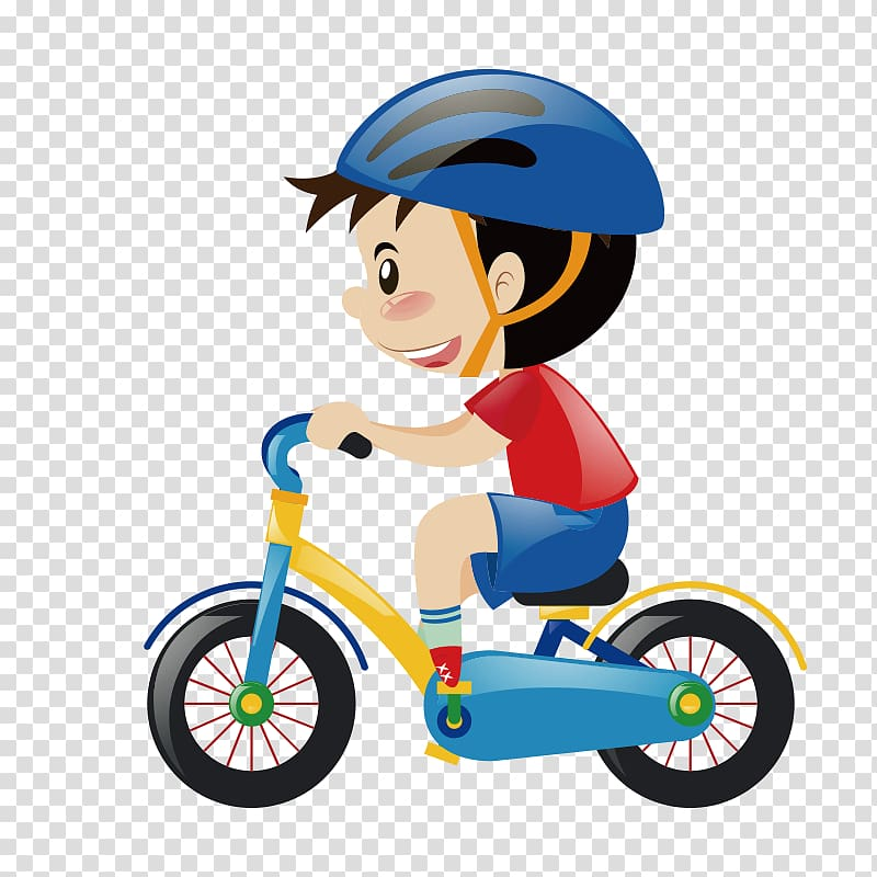 Cycling clipart little boy. Riding a bicycle cartoon