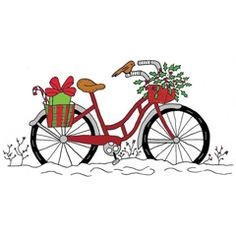 Biking clipart christmas. Bicycle clip art for