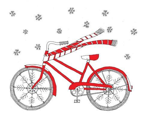 best digital clip. Biking clipart christmas