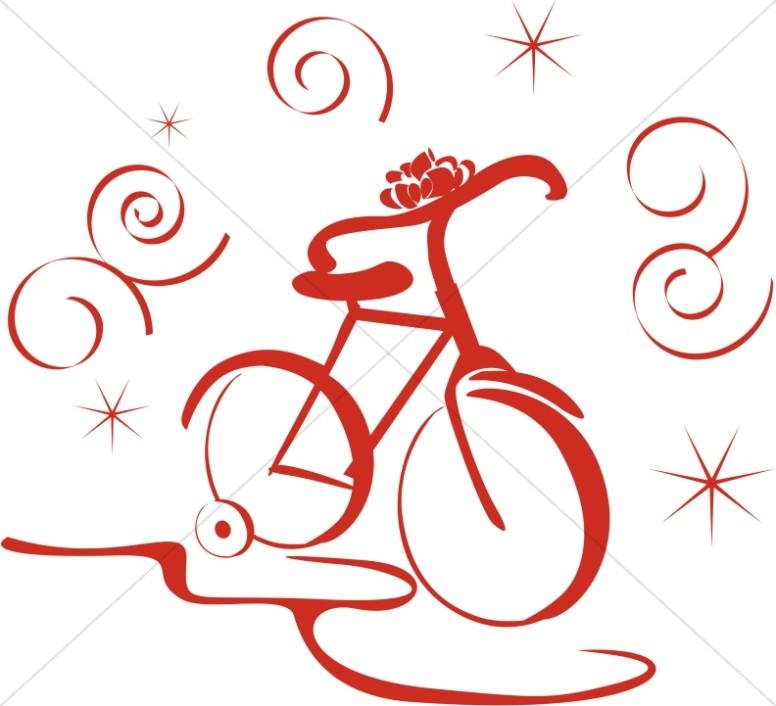 Biking clipart christmas. New bike religious
